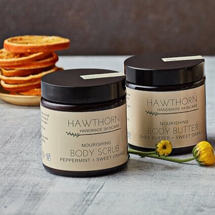 Nourishing Body Scrub, Peppermint + Sweet Orange