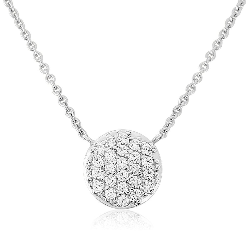 WATERFORD CRYSTAL SILVER PENDANT CIRCULAR DISK