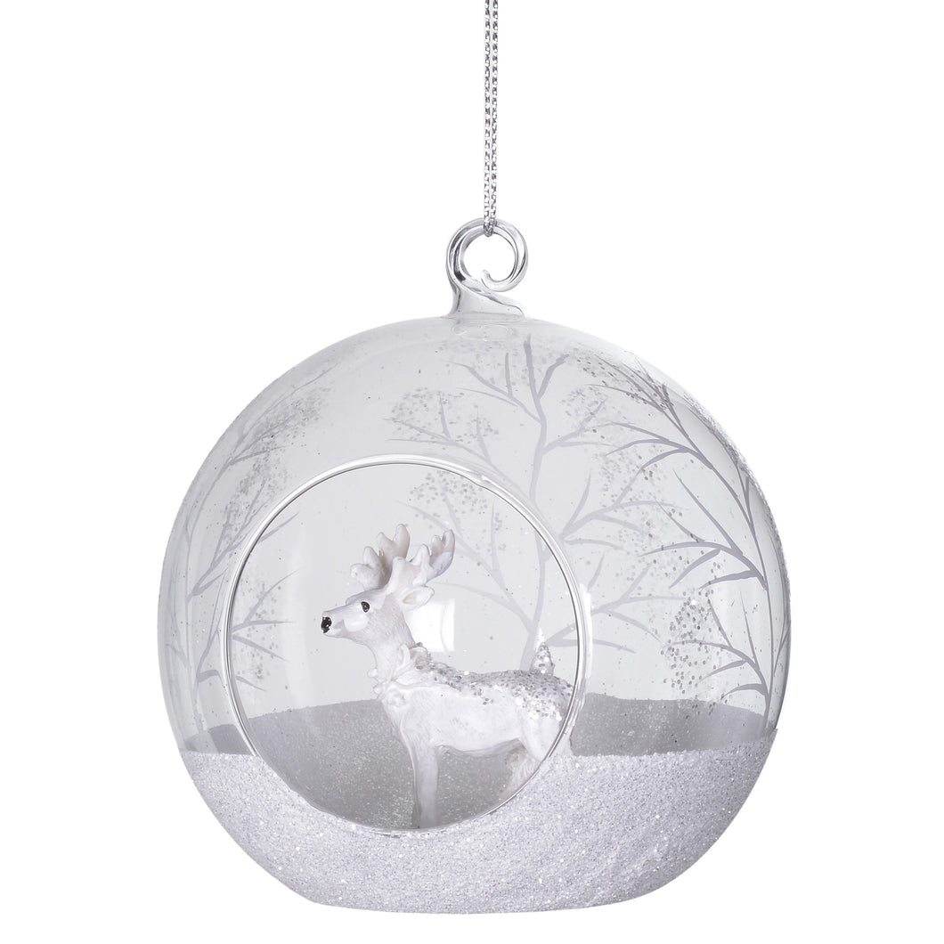 Reindeer in Glass Ball