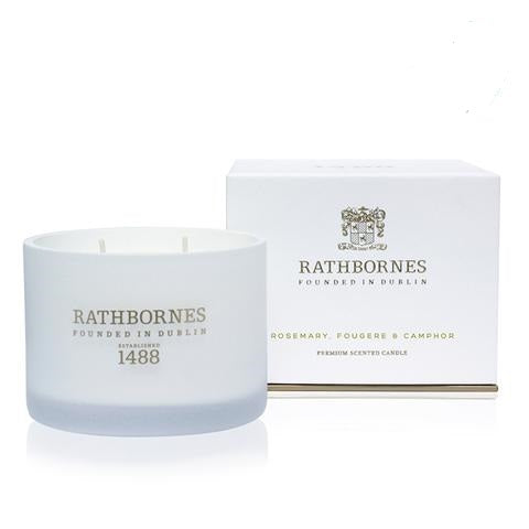 RATHBORNES - ROSEMARY, FOUGERE & CAMPHOR SCENTED CANDLE