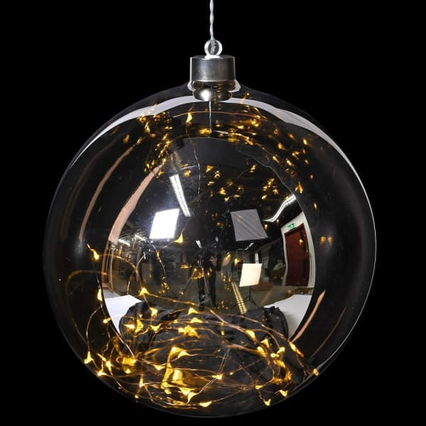 Smoked Bauble with Lights