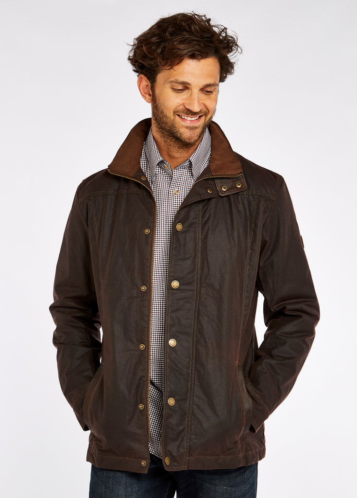 Dubarry Men's Carrickfergus Waxed Jacket - Brown