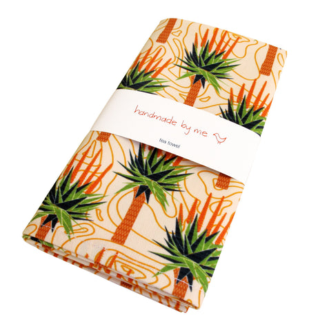 African Aloes Tea Towel