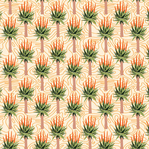 African Aloes Fabric