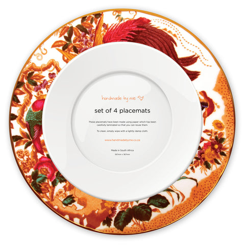 Birds Of Paradise Plate Placemats (set of 4)