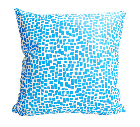 Blue Squares Pattern Fabric
