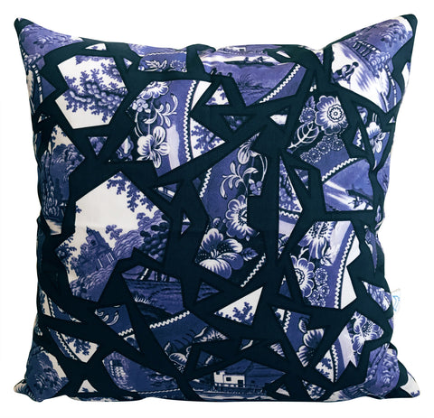 Blue Willow Pattern Cushion Cover
