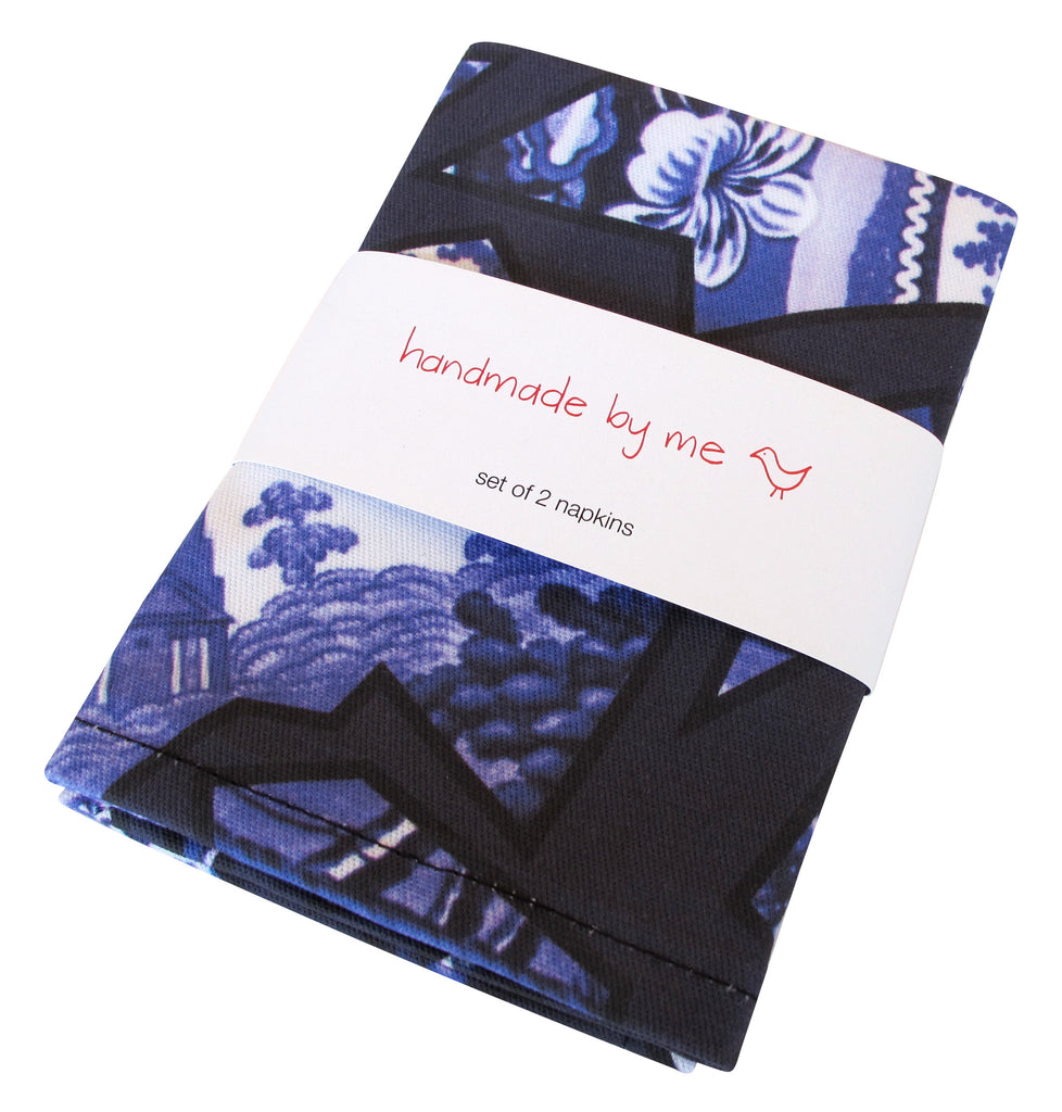 Blue Willow Pattern Napkins (set of 2)