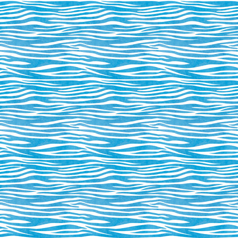 Blue Zebra Pattern Wallpaper