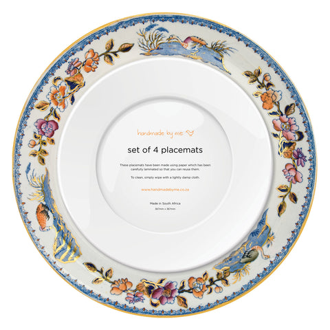 Imari China Plate Placemats (set of 4)