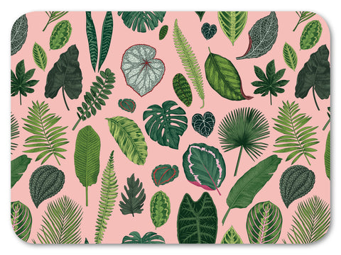 Foliage on Pink Chopping Board