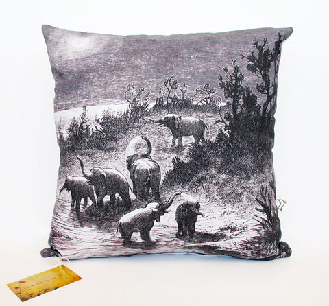 Elephants Cushion Cover
