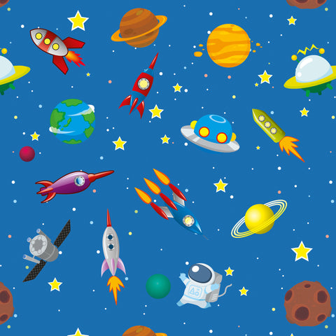 Space Rocket Solar System Wallpaper