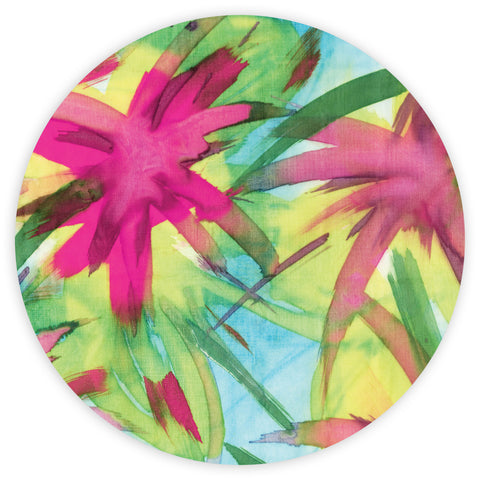 Feisty Floral Watercolour on Blue Placemats (set of 4)