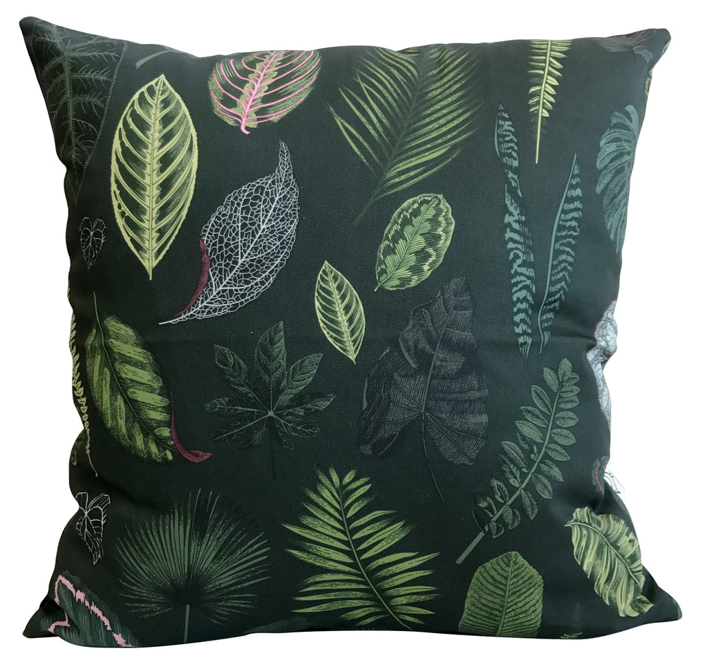 Foliage on Green Cushion Cover