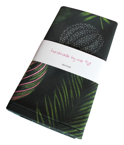Foliage on Green Tea Towel