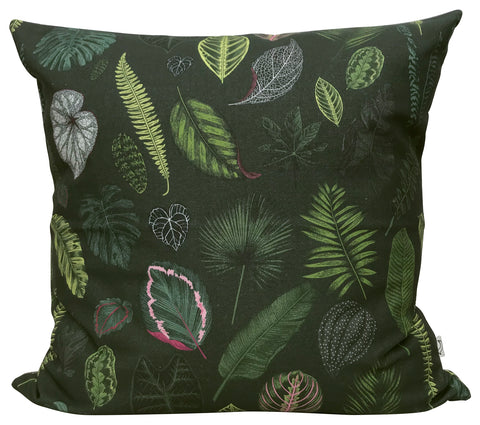LUX Foliage on Green Panama Cushion Cover