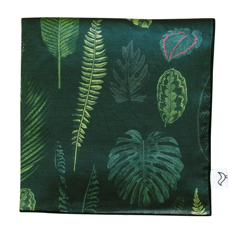 Foliage on Green Muslin Baby Blanket