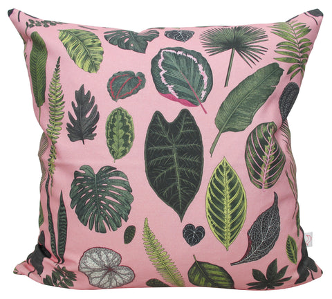 LUX Foliage on Pink Panama Cushion Cover