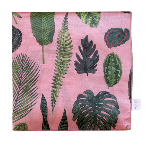 Foliage on Pink Muslin Baby Blanket