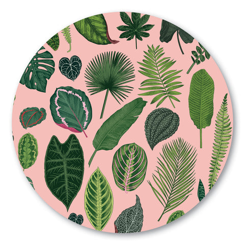 Foliage on Pink Pot Stand