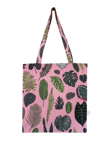Foliage on Pink Tote Bag