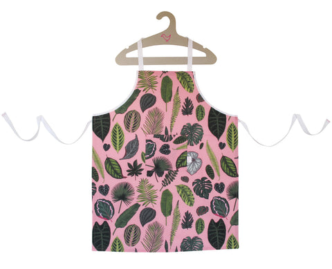 Foliage on Pink Chef Apron