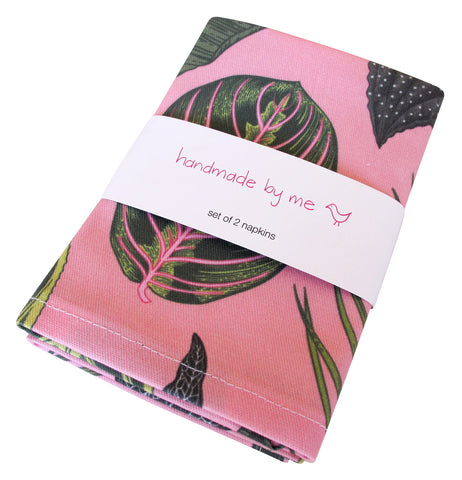 Foliage on Pink Napkins (set of 2)