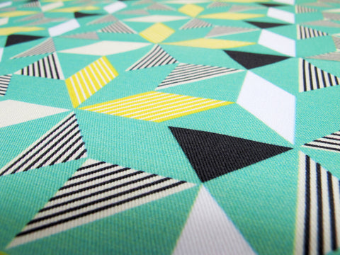Geometric Green Fabric