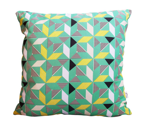 Geometric Green Cushion Cover (40x60cm)