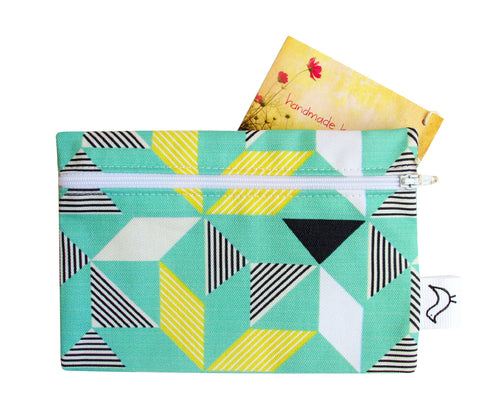 Geometric Green Purse