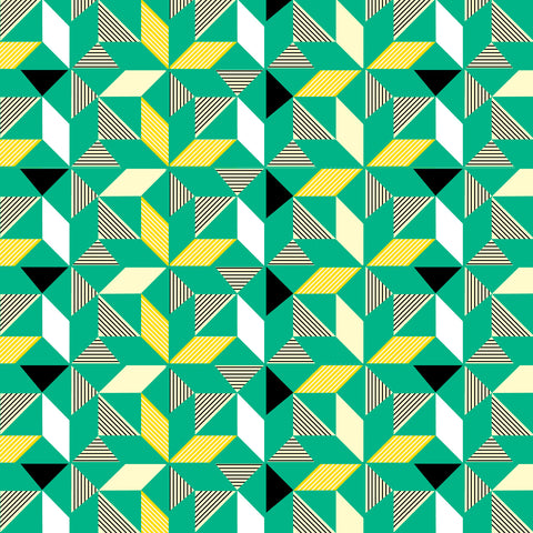 Geometric Green Wallpaper