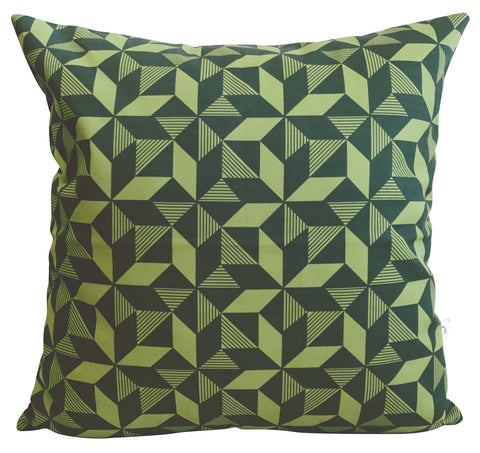 Geometric Greenery Cushion Cover