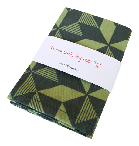 Geometric Greenery Napkins (set of 2)