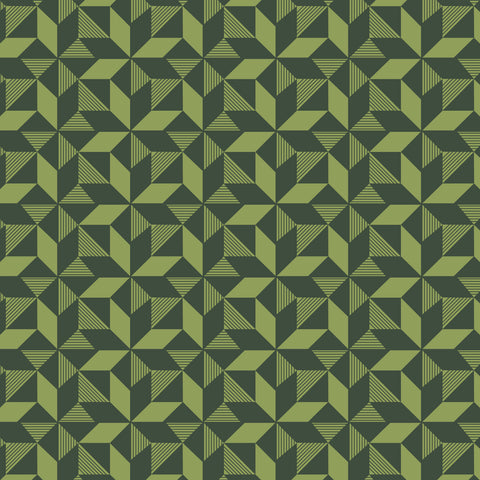 Geometric Greenery Fabric