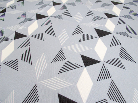 Geometric Grey Fabric