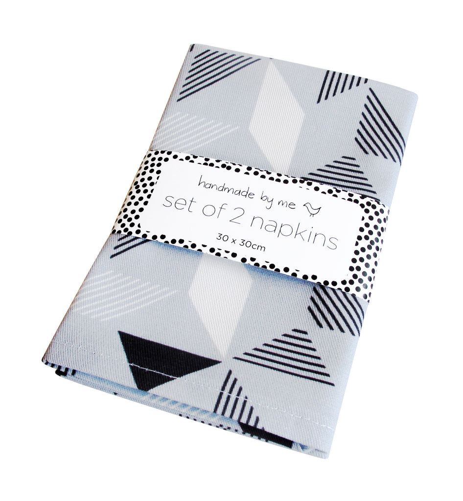Geometric Grey Napkins (set of 2)