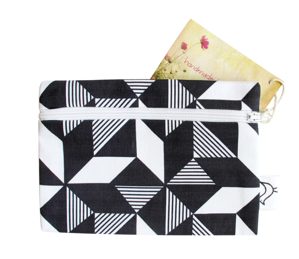 Geometric Monochrome Purse