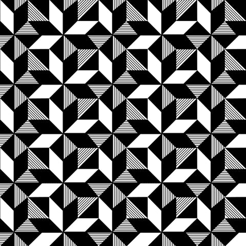Geometric Monochrome Wallpaper
