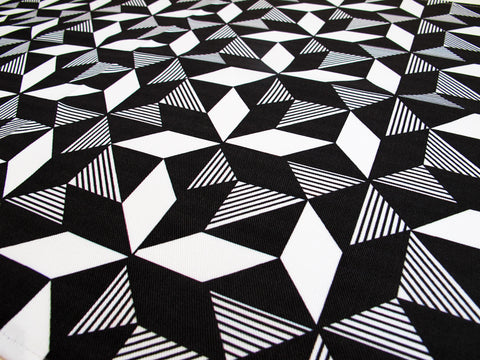 Geometric Monochrome Fabric