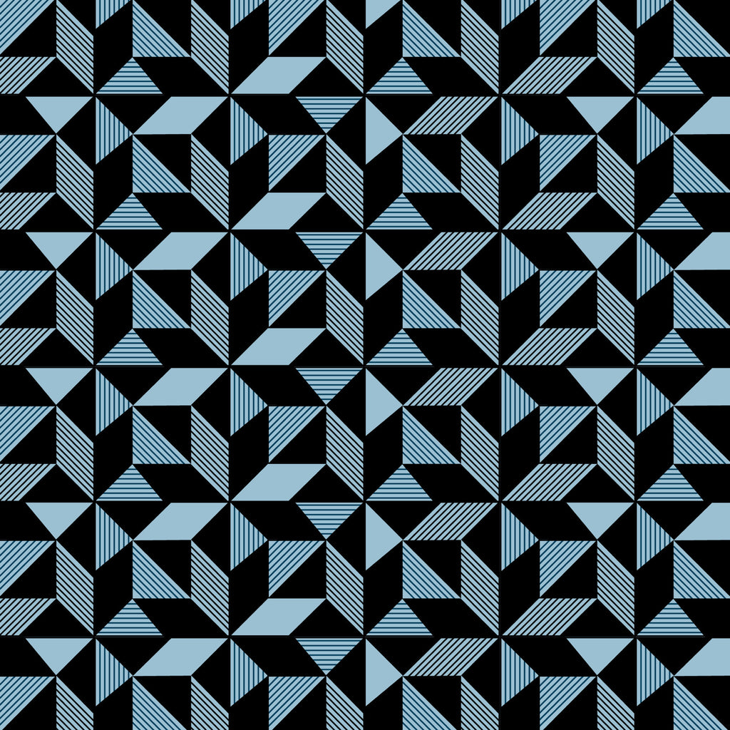 Geometric Navy Wallpaper