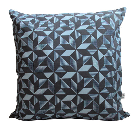 LUX Geometric Navy Panama Cushion Cover