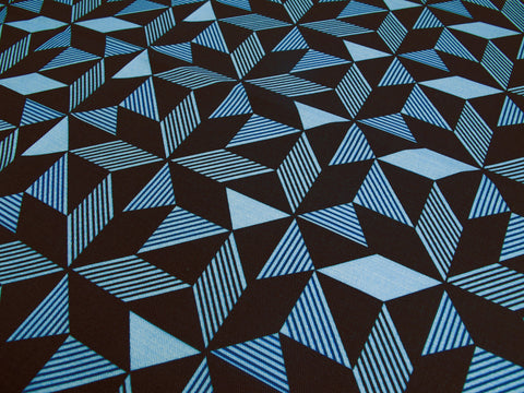 Geometric Navy Fabric