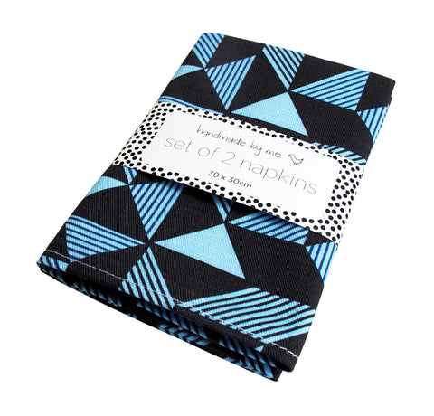 Geometric Navy Napkins (set of 2)