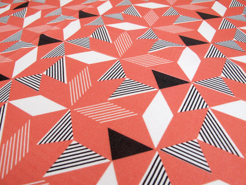 Geometric Orange Fabric