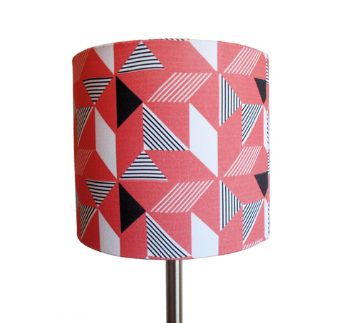 Geometric Orange small bedside/desk lampshade