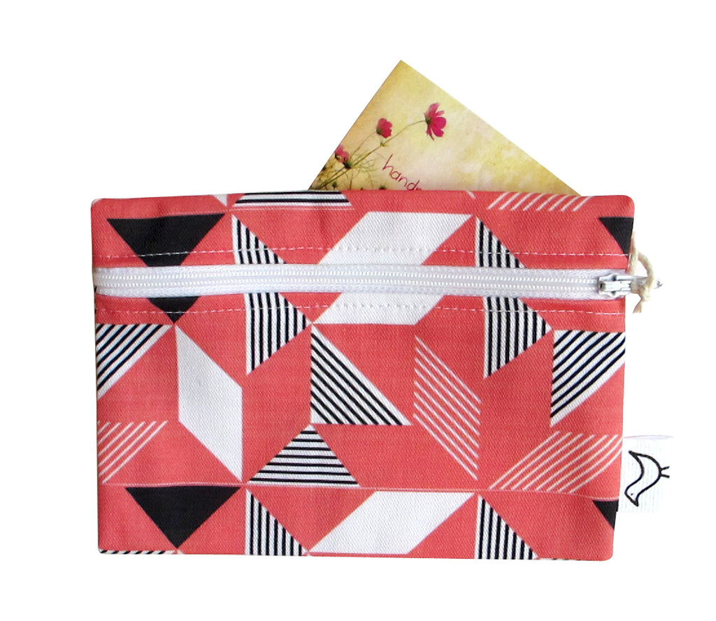 Geometric Orange Purse