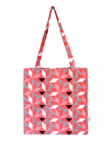 Geometric Orange Tote Bag