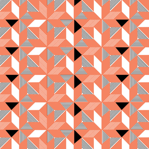 Geometric Orange Wallpaper