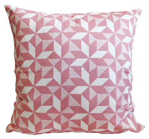 Geometric Pink Cushion Cover